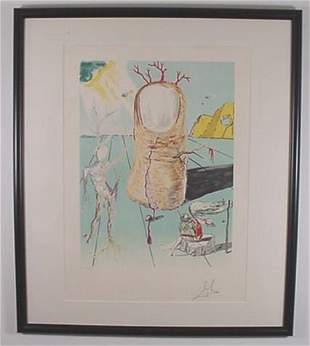 """Dali Litho """"The Thumb"""" Hand Signed & Numbered"""