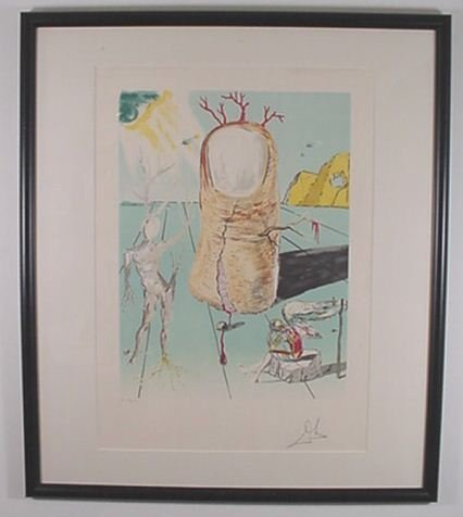 """2219: Dali Litho """"The Thumb"""" Hand Signed & Numbered"""