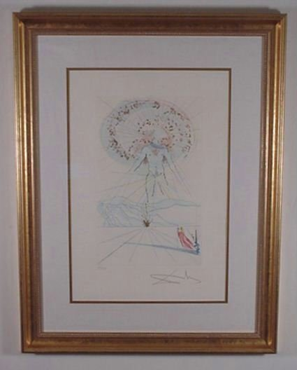 2221: Dali Etching Song of Songs Signed & Numbered