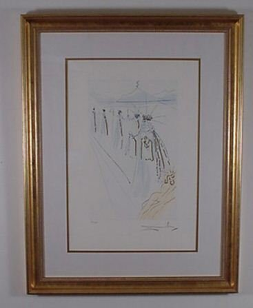 2222: Dali Etching Song of Songs Signed & Numbered