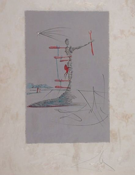 2282: Dali Woman in Cosmos Extremely Rare Signed