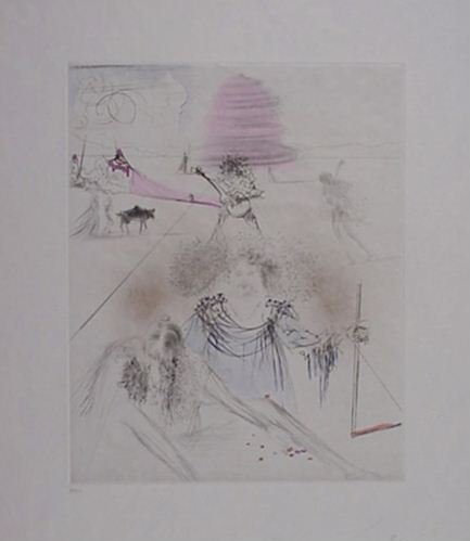 2287: Dali The Old Hippie Super Rare Signed & Numbered