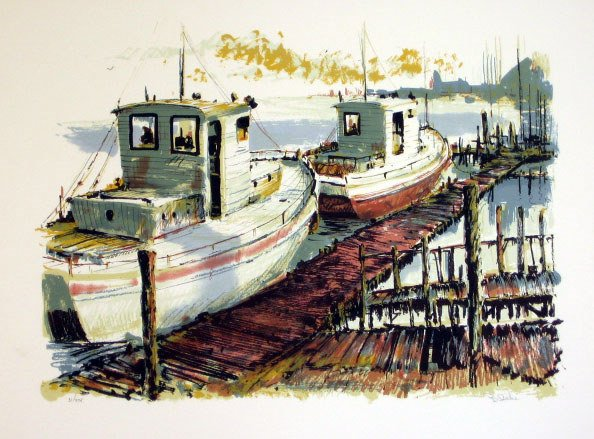 903: Blake Seascape Pencil Signed & Numbered