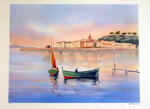 904: Zarov Seascape Pencil Signed & Numbered