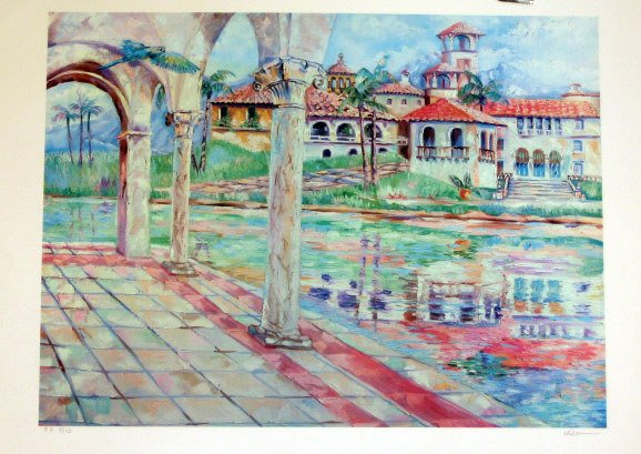 906: Monet Style Lithograph Pencil Signed & Numbered