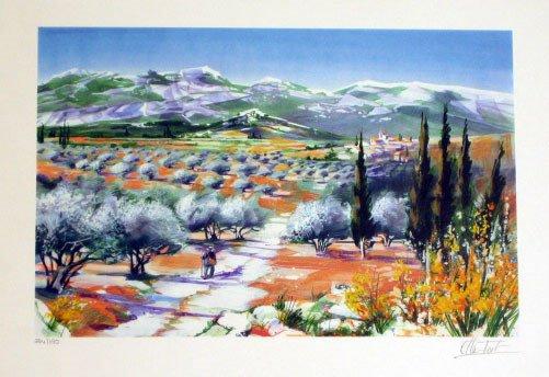 919: Ella Fort Landscape Scene Pencil Signed & Numbered