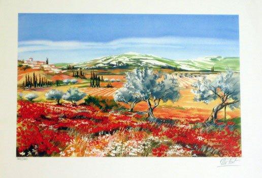 921: Ella Fort Landscape Scene Pencil Signed & Numbered