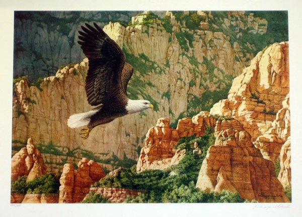 923: Reagan Ward American Eagle Signed & Numbered