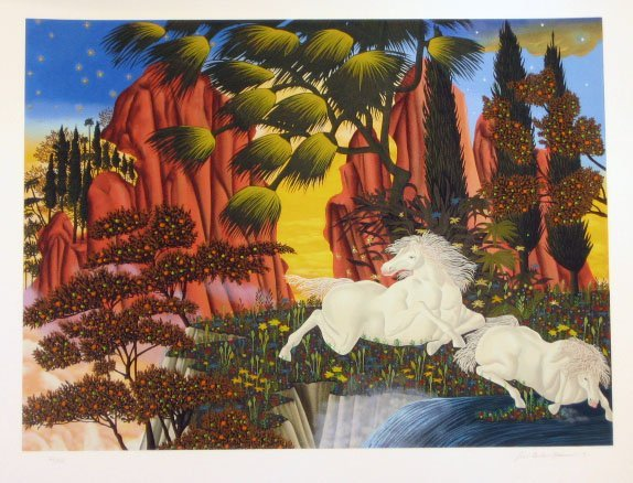 2009: Jose Carlos Ramos White Horses Signed & Numbered