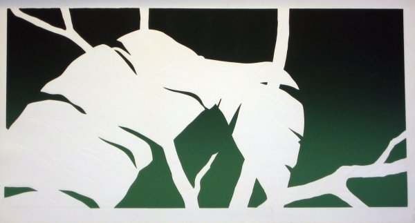 3507: Palm Leaf Embossed Lithograph
