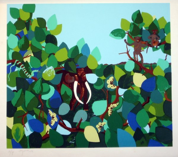 3510: Aymon Jungle Lithograph Signed & Numbered