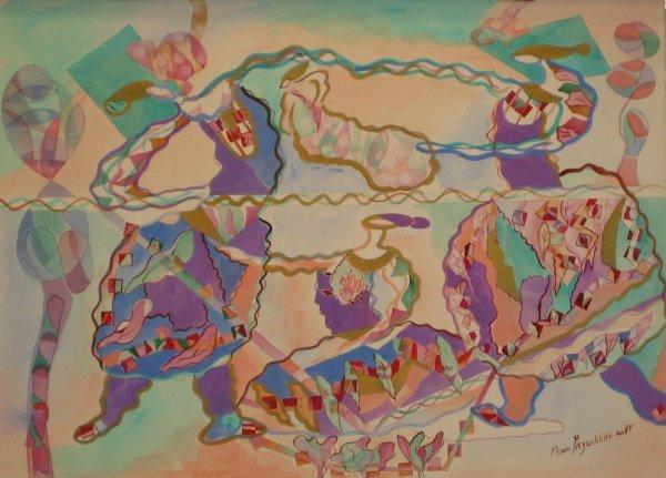 3511: Naomi Sitzerblatt Original Watercolor