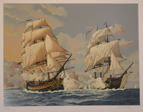 3515: D'estrehoy Ship Serigraph Pencil Signed & Numbere