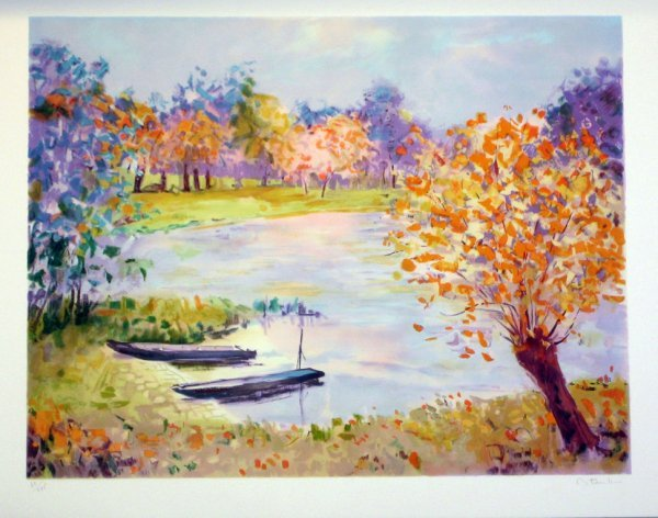 3517: Unknown Artist (Monet Style) Signed & Numbered