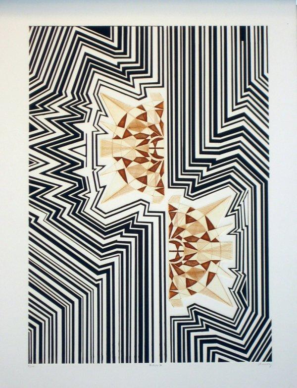 3520: Abstract Art Etching Aquatint Pencil Signed & Num