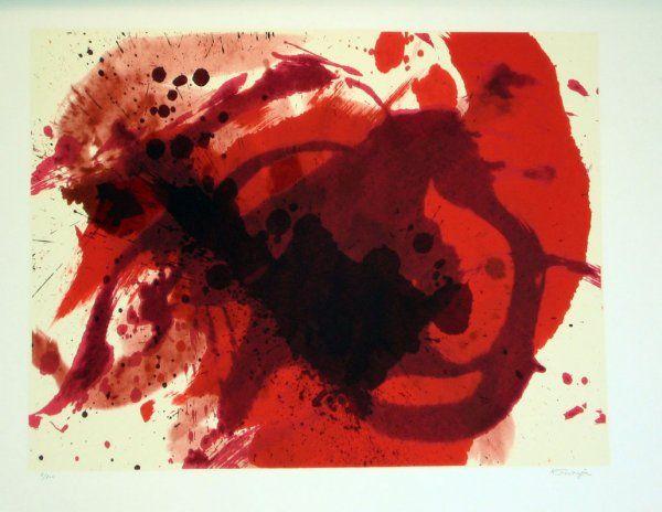 3674: Kazuo Shiraga Pencil Signed & Numbered