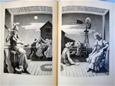 3855: Thomas Hart Benton Signed Illustrated Book & Numb