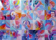 4019: Calman Shemi Original Oil on Canvas Painting Isra