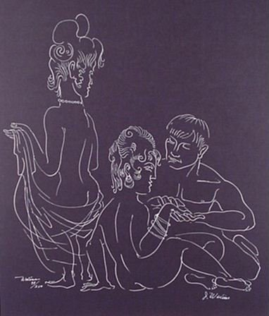 2501: Joseph Wolins WPA artist Signed & Numbered