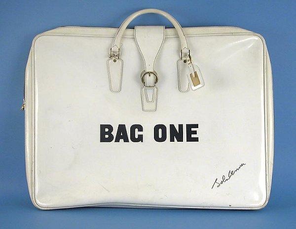 2509: John Lennon Bag One Series White Art Bag