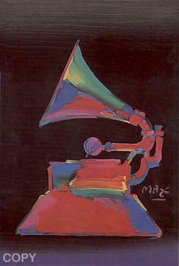 """2512: Peter Max """"Grammy"""" Pencil Signed & Numbered"""