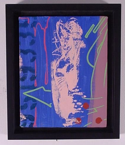 "2516: John ""Crash"" Matos Oil on Canvas Pop Art"