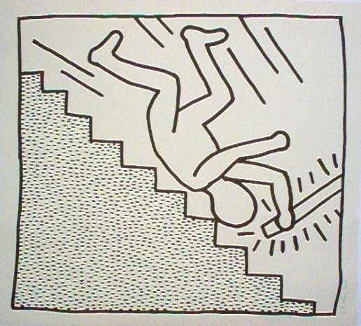 "2520: Keith Haring Silkscreen 46 X 42"" Pencil Signed &"