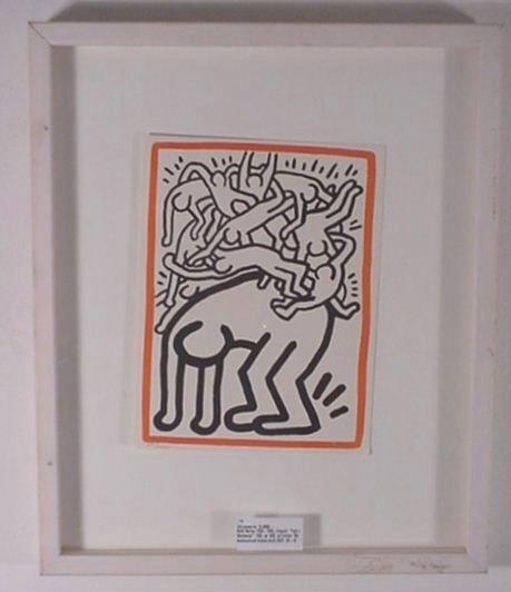 2521: Keith Haring Aids Litho Certified by the Estate