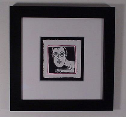 2522: Keith Haring Self Portrait Silkscreen Hand Signed