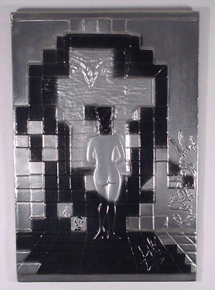 2558: Dali Bas Relief Plaque Lincoln in Dali Vision