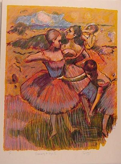2693: Wayne Ensrud Degas Ballerinas Signed & Numbered