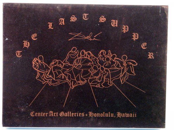 4349: Salvador Dali Last Supper Bas Relief Wall Sculptu - 2