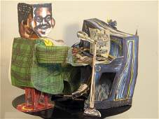 4587: Red Grooms Fats Domino Blueberry Hill 3-D Pop Up