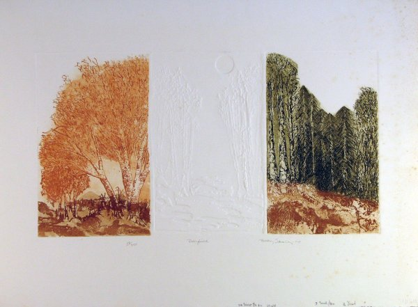 4864: Becky Sansing Landscape Pencil Signed & Numbered
