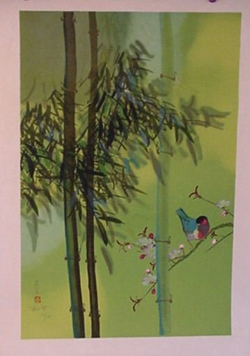 2817: Chinese Art lithograph Pencil Signed & Numbered
