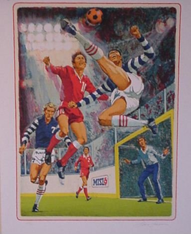 2821: Soccer Lithograph Pencil Signed & Numbered