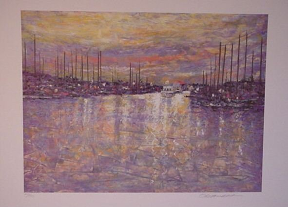2823: Lithograph Monet Style Pencil Signed & Numbered