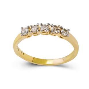 14K Yellow Gold Diamonds Ring