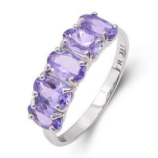 14K White Gold Tanzanite Ring