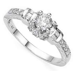 14K White Gold Moissanite Ring