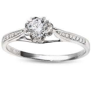 18K WHITE GOLD DIAMONDS 029CT 17PCS RING