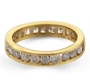 14K YELLOW GOLD DIAMONDS 175CT 24PCS RING