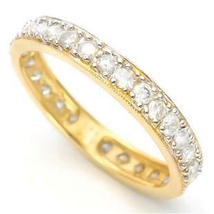 14K YELLOW GOLD DIAMONDS 103 CT 30PCS RING