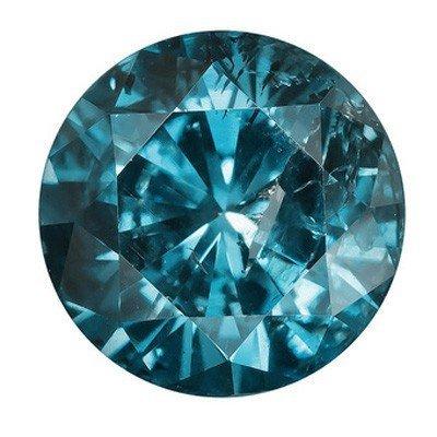 FANCY AAA LOOSE 0.29CT ROUND BLUE DIAMOND