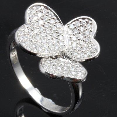 Striking 0.6CT Pave Set Diamond In 18K Gold Ring