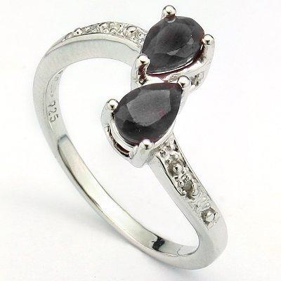 Alluring Sapphire & Diamond 0.925 Silver Ring