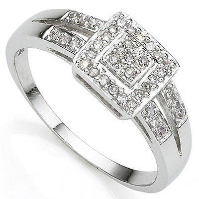 Fantastic Diamond Accent 0.925 Silver Ring