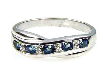 0.61ct Treated Topaz Diamond Ring Sterling Silver