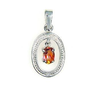 0.28ct Topaz Diamond Animal Pendant Sterling Silver
