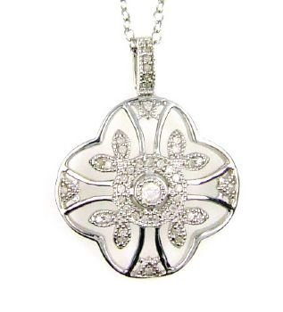 Natural .20ct Diamond Pendant Sterling Silver